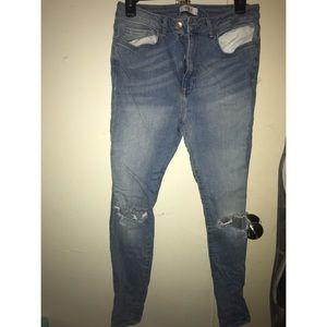 Forever 21 Cotton Light Blue Jeans